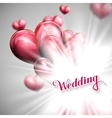 holiday of Wedding label with vector image vector image