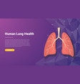 human lung template banner design with free space vector image
