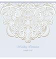 Invitation card ornamental lace vector image vector image