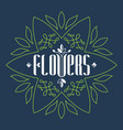 logo for a flower boutique or salon consisting vector image