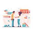man and woman shaking hands vector image vector image