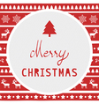 Merry Christmas greeting card50 vector image vector image