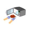 microwave with open door vector image vector image