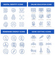 modern technologies icons set for such themes vector image