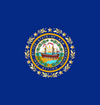 new hampshire state flag vector image vector image