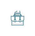 office employee linear icon concept office vector image