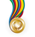 Olympics Games gold medal vector image