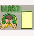 people lost footballSad football fan vector image vector image