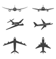 plane icons set vector image