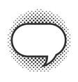 pop art comic speech bubble halftone style linear vector image vector image