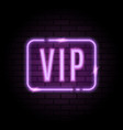 purple neon frame with vip sign vector image vector image