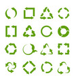 recycling icons various green circle arrow vector image vector image