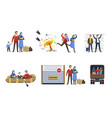 refugees or immigrants family war escape vector image vector image