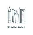 school tools line icon linear concept vector image vector image