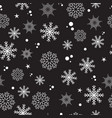 seamless pattern snow snowflakes vector image