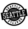seattle black and white badge vector image vector image
