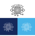 security design with eye logo vector image