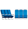 set of airplane seat vector image
