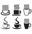 set of coffee cup icons vector image vector image