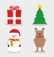 set of colorful christmas icons vector image vector image