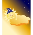 sleeping sun vector image vector image