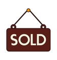 sold sign offer buy isolated vector image