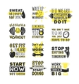 Sport motivation phrases vector image vector image