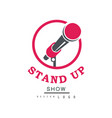 stand up show logo design comedy club emblem vector image vector image