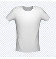 t-shirt white color mockup vector image vector image