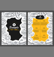 template different types donut for menu vector image vector image