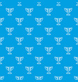 trophy pattern seamless blue vector image vector image