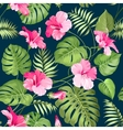 Tropical flower pattern vector image vector image