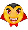 Vampire emoticon vector image