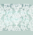 vintage damask blue background luxury vector image vector image