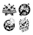 vintage vapes emblems labels badges logos vector image vector image