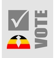 Vote text with check mark and human icon vector image vector image