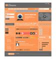 web design element template a complete set vector image vector image