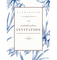 Wedding invitation template with flowers vector image vector image