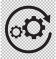 workflow icon on transparent process vector image vector image
