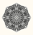 zentangle template round ornament vector image vector image