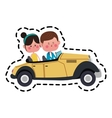 kawaii couple in love vector image