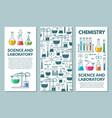 science information cards set vector image