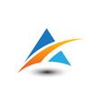 abstract mountain business logo vector image vector image