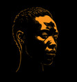african woman portrait silhouette vector image vector image