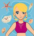 anime manga 17 vector image vector image
