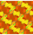 Autumn bright colors leaves carved seamless vector image