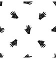 baby and mother hand pattern seamless black vector image vector image
