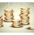 Background with coins vector image vector image