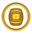 Barrel of honey icon vector image vector image