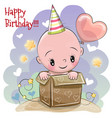 birthday card with cute baby